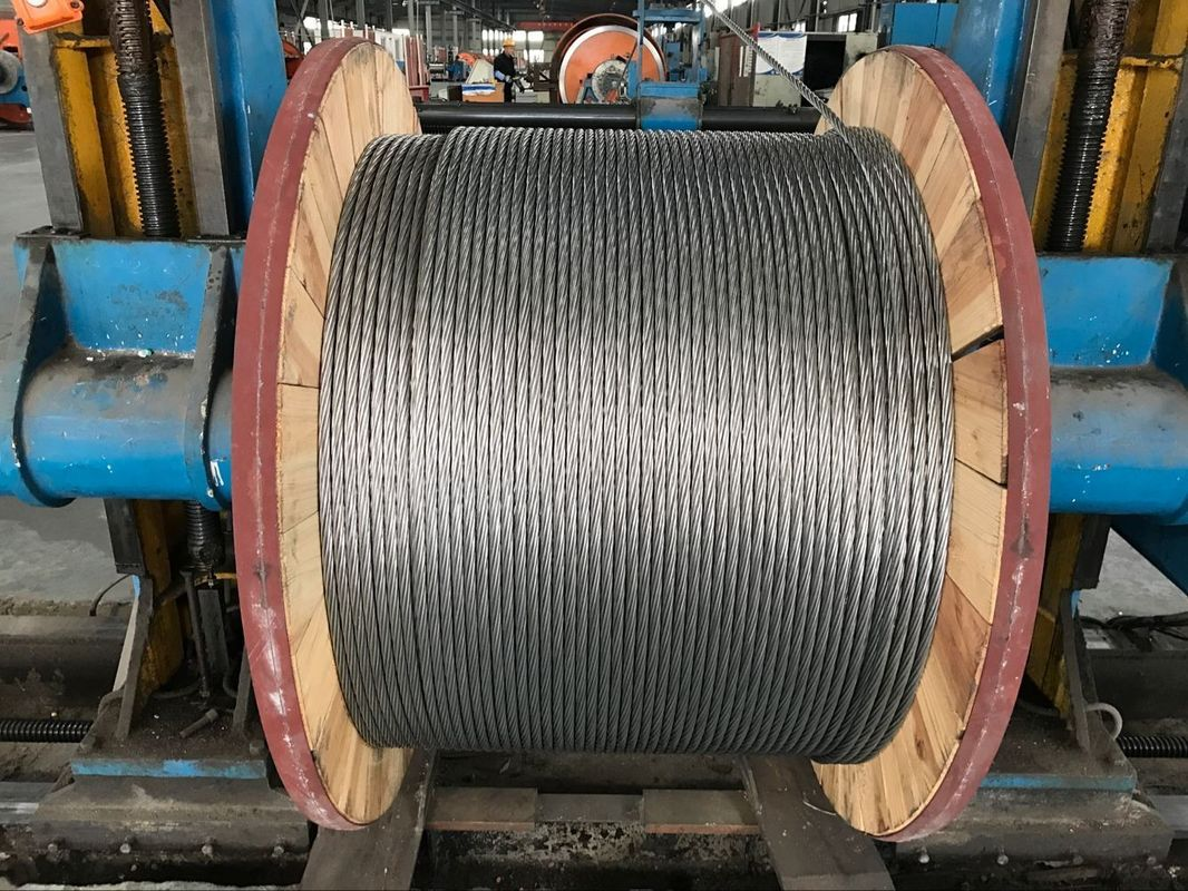 Corrosion Resistance EHS Galvanized Guy Wire 3 8 Inch ASTM A 475 Packed 5000 Ft/Drum